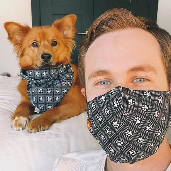 Kevin & Ginny (@ginny_the_woof) in our Geo Mask