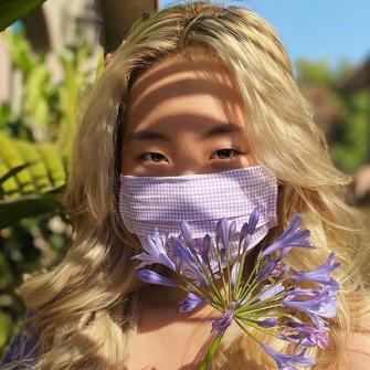 Rachel (@rc_rachael) in our Liberty Floral Mask