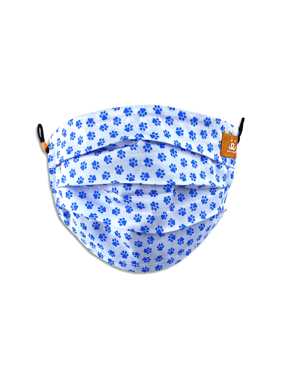 KIDS SCATTERED PAWS PLEATED REVERSIBLE MASK 3-PACK