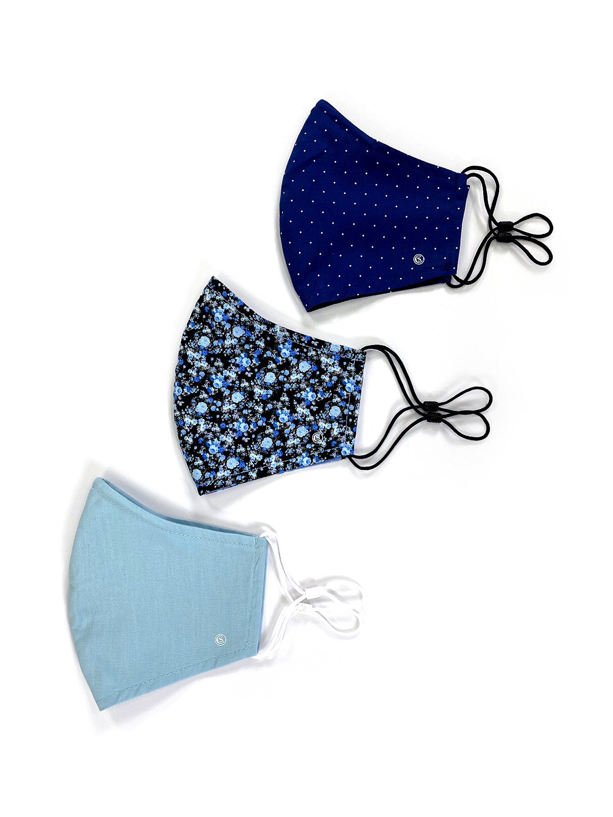FLORAL PRINT CONE MASK 3-PACK