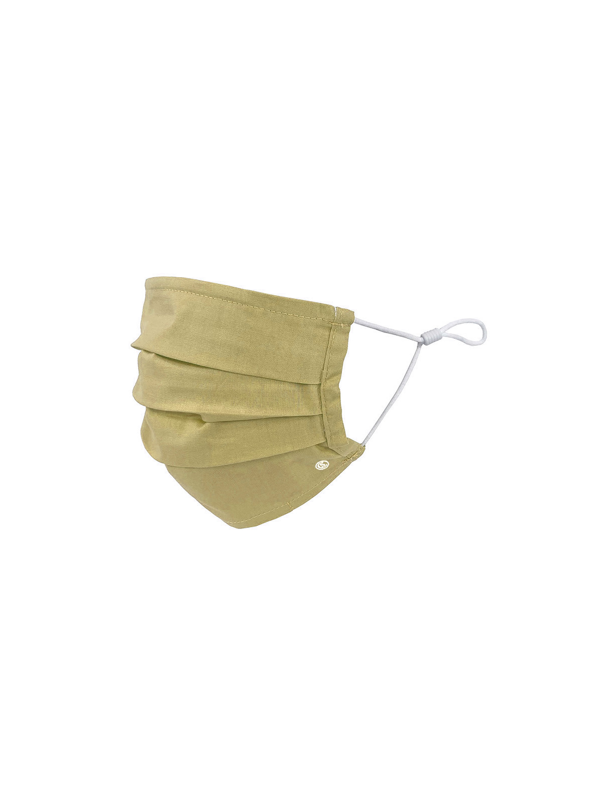 KIDS SOLID OLIVE PLEATED MASK 6-PACK