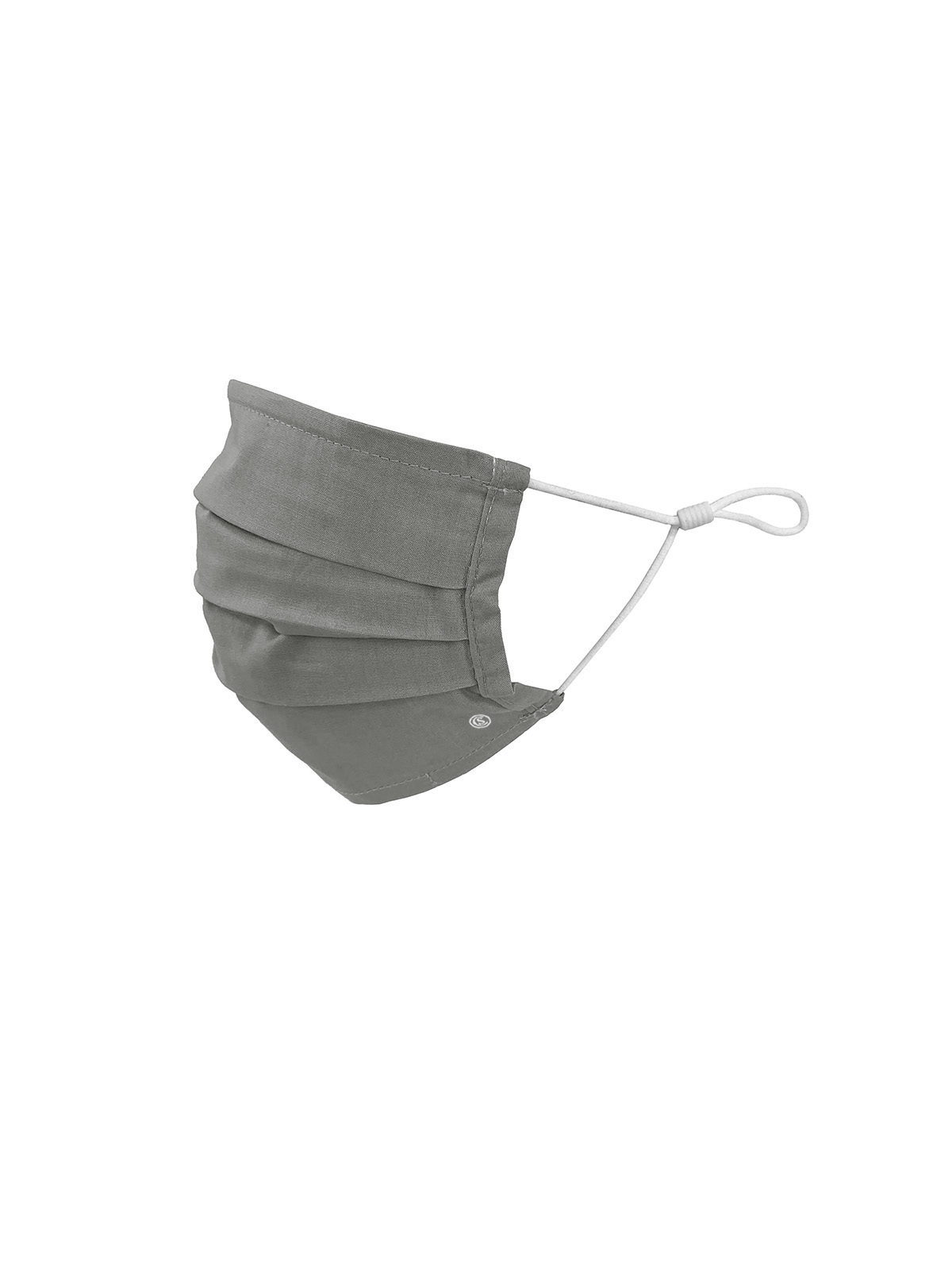 KIDS SOLID GREY PLEATED MASK 6-PACK