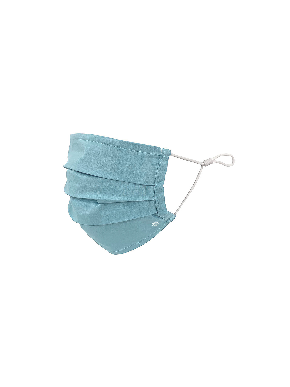 KIDS SOLID SOFT BLUE PLEATED MASK 6-PACK
