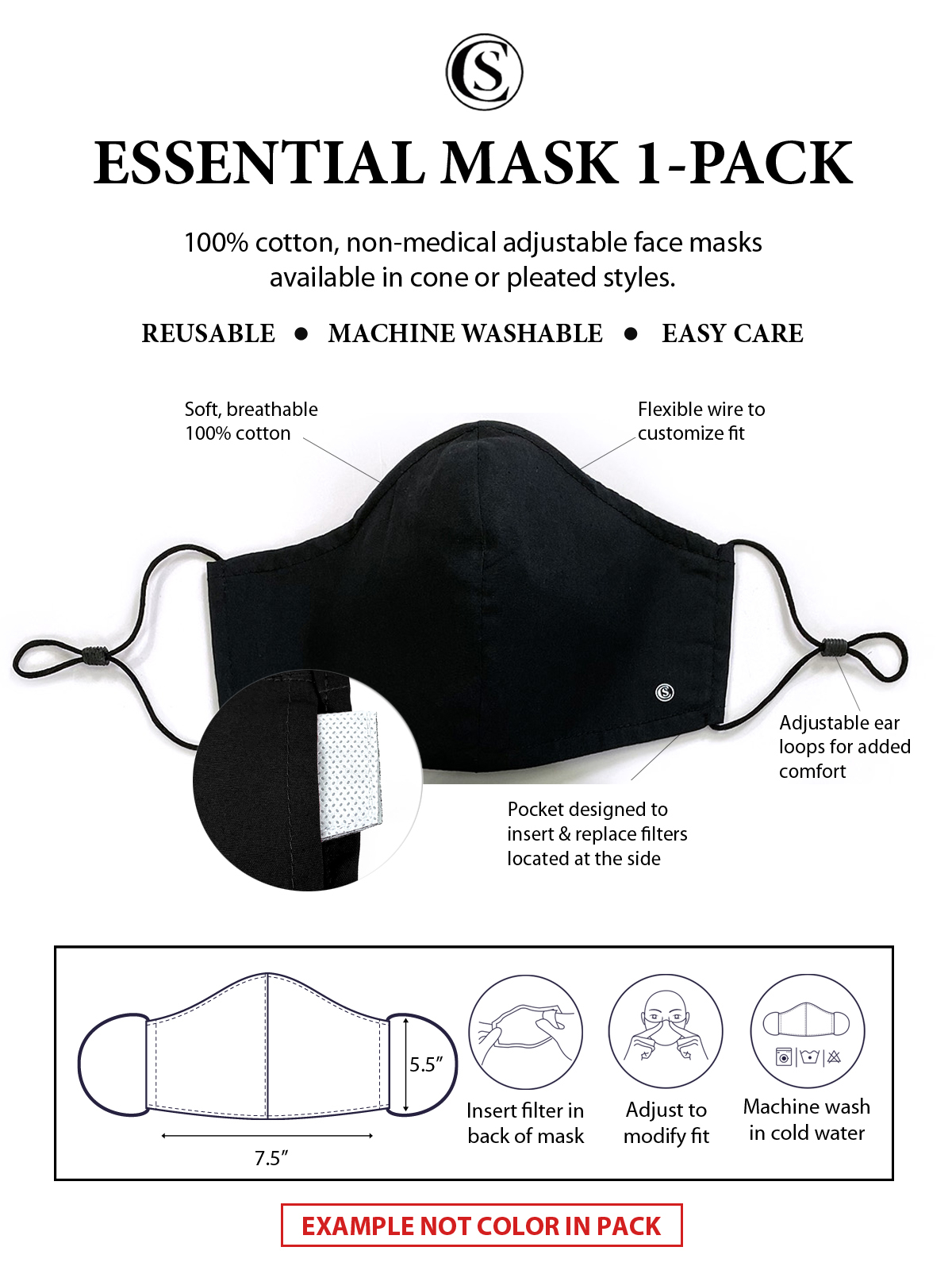 FLORAL CONE MASK 1-PACK