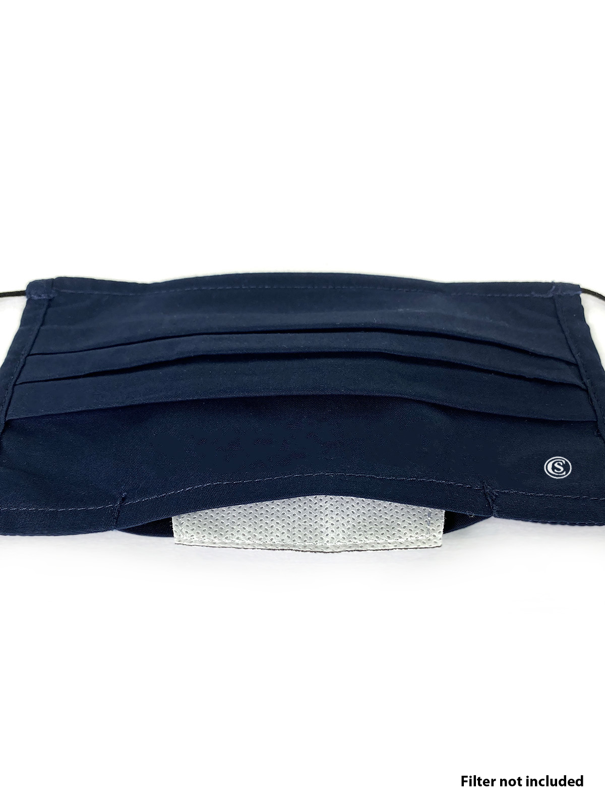 SOLID NAVY PLEATED MASK 6-PACK