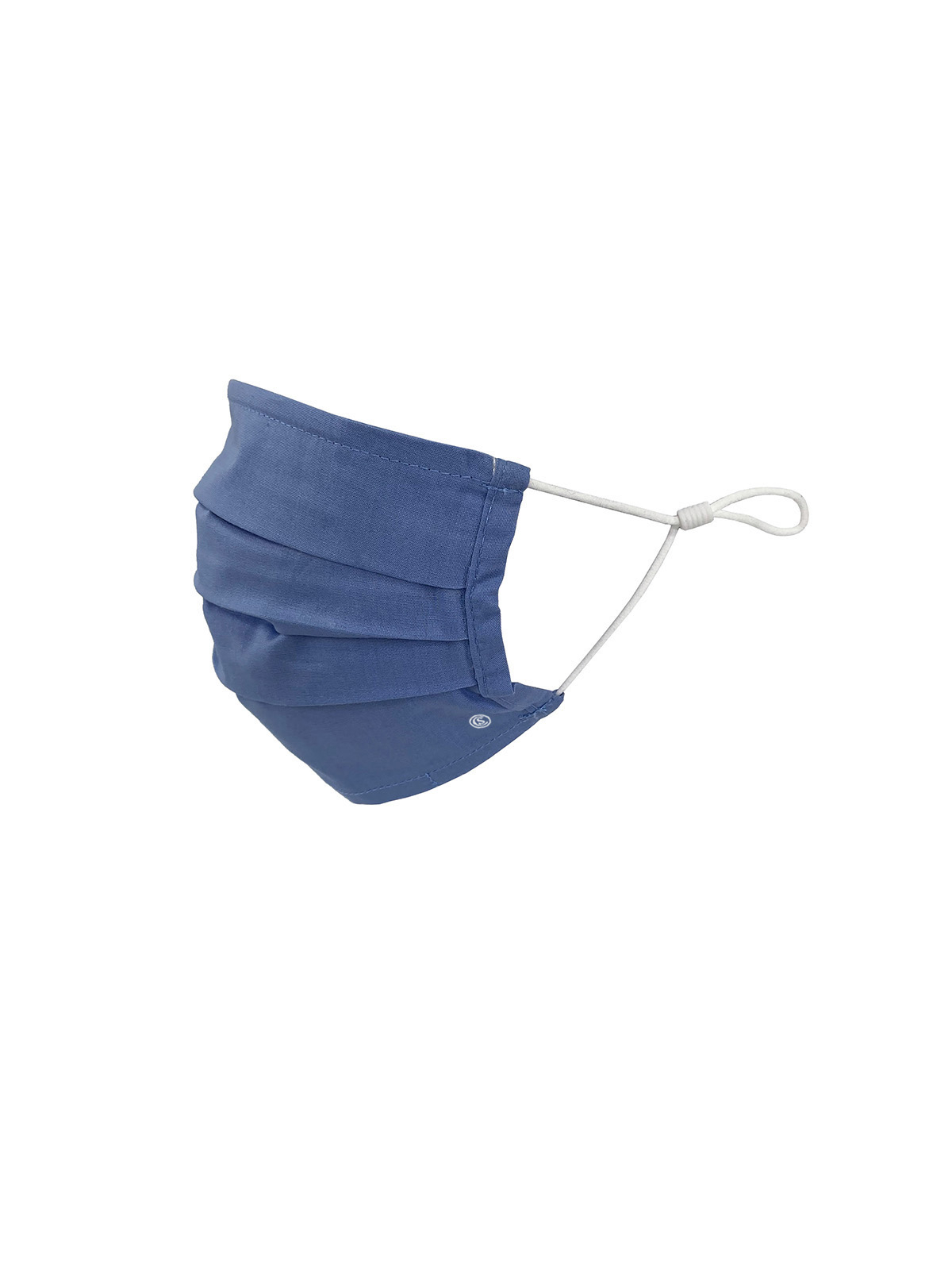 KIDS SOLID FRENCH BLUE PLEATED MASK 6-PACK