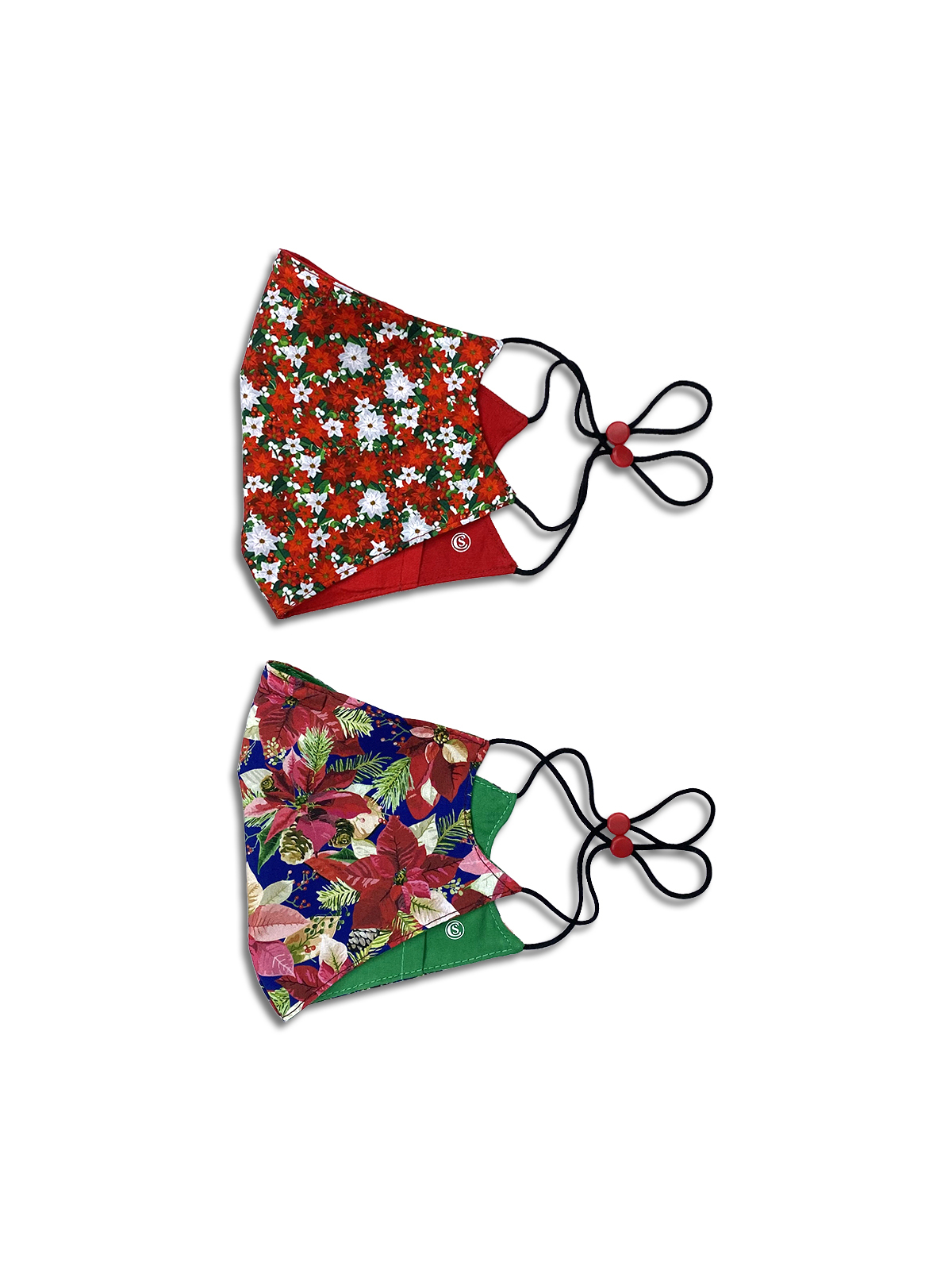 HOLIDAY FLORAL CONE MASK 2-PACK