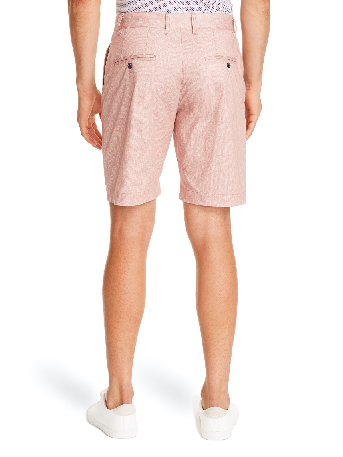 PINK TEXTURED SHORTS FOR MEN BACK VIEW