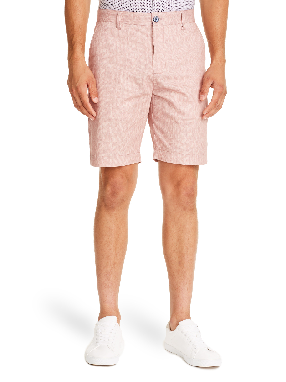PINK TEXTURED SHORTS FOR MEN FRONT VIEW