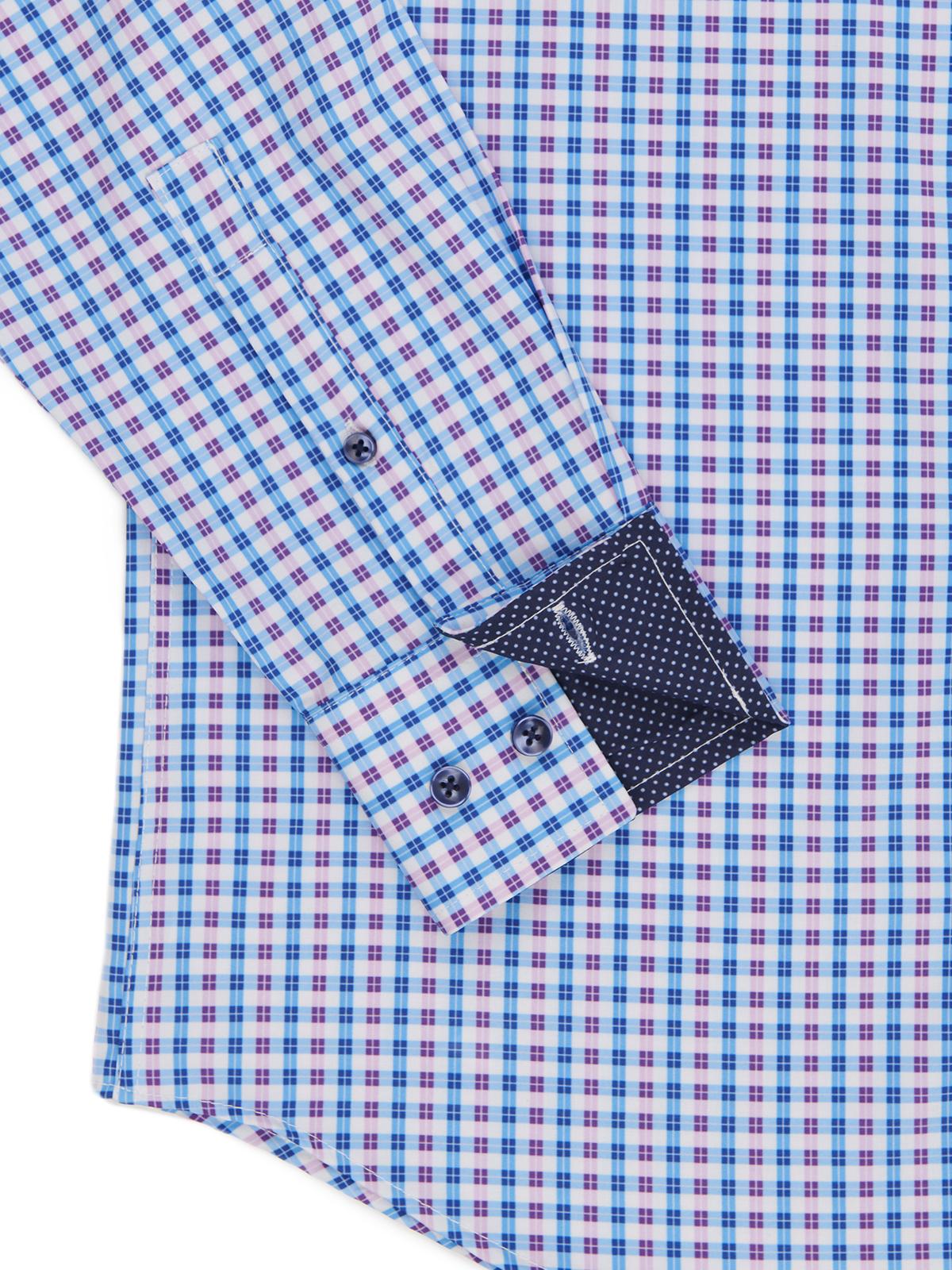 GINGHAM COOLING PERFORMANCE STRETCH DRESS SHIRT