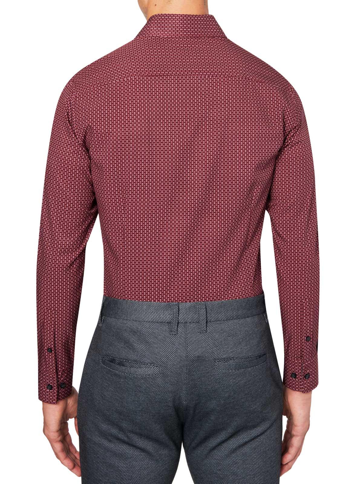 MINI GEO PRINT COOLING PERFORMANCE STRETCH DRESS SHIRT
