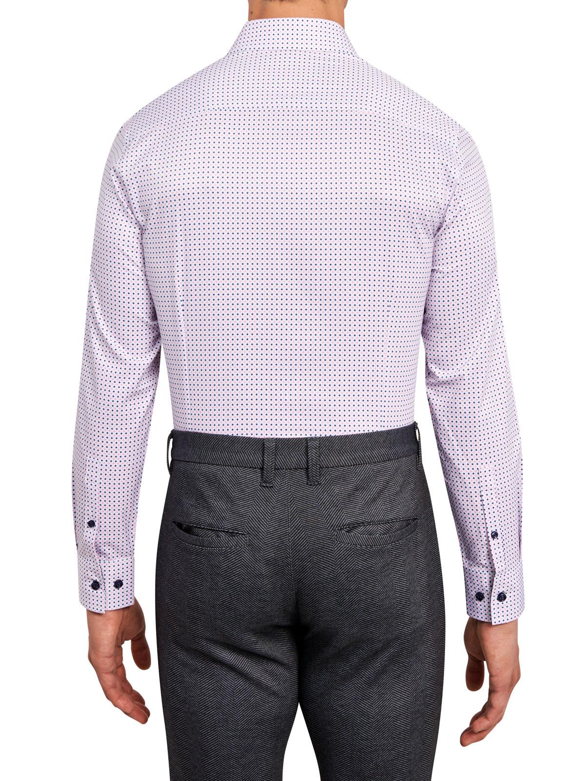 STAR PRINT COOLING PERFORMANCE STRETCH DRESS SHIRT