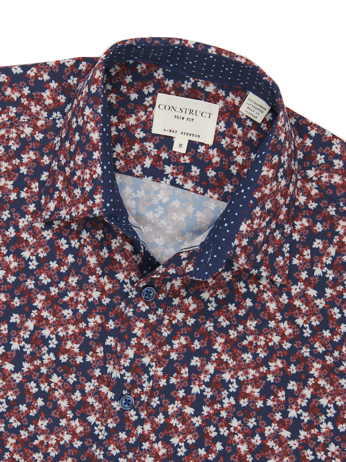 TOSSED FLORAL PERFORMANCE STRETCH LONG SLEEVE SHIRT